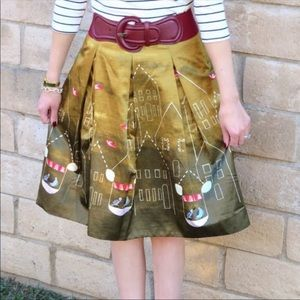 Maeve Rare Feathered Village Bird Skirt | 2